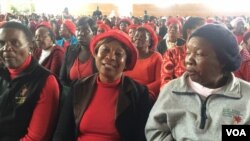 Supporters of the Movement for Democratic Change attending a meeting organized by Thokozani Khupe last weekend in Bulawayo.