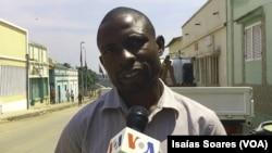 Marcelino Gimbi, jornalista da Rádio Despertar em Malanje, Angola