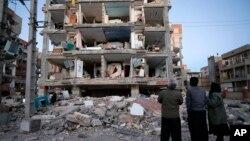 Зруйнований у результаті землетрусу будинок