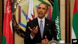Tổng thống Hoa Kỳ Barack Obama tại cuộc họp báo ở Riyadh, Ả Rập Xê-út, ngày 21/4/2016.