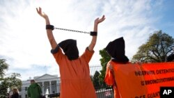 Протест у Белого дома в Вашингтоне