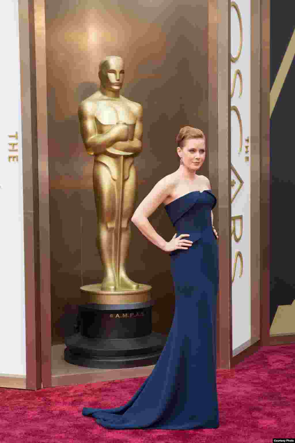 Oscar®-nominee Amy Adams arrives for the live ABC Telecast of The 86th Oscars® on March 2, 2014 in Hollywood, CA. (Photo courtesy AMPAS)