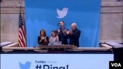 社交媒體網站推特的股票在星期四股市開盤時。