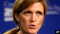 Ðại sứ Mỹ tại Liên Hiệp Quốc Samantha Power.