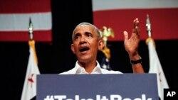 Bivši predsednik Barak Obama govori na skupu u Kaliforniji