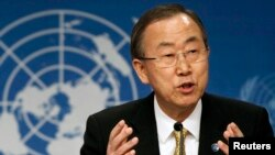 FILE - United Nations Secretary-General Ban Ki-moon.