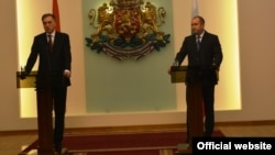 Predsednik Crne Gore Filip Vujanović sa bugarskim predsednikom Rumenom Radevom u Sofiji, 15. januar 2018. (rtcg.me)