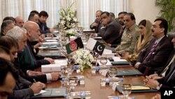 파키스탄의 수도 이슬라마바드에서 16일 열린 파키스탄-아프간 정상회담