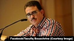 Taoufiq Bouachrine, journaliste au quotidien marocain indépendant Akhbar al-Yaoum, arrêté, 23 février 2018. (Facebook/Taoufiq Bouachrine)