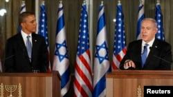 3月20日奥巴马与内塔尼亚胡在耶路撒冷记者会上发表谈话