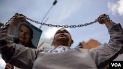 """Según la CIDH las violentas protestas antigubernamentales que dejaron 43 muertos a inicios de 2014 dan cuenta de un """"clima de hostilidad"""" hacia opositores políticos y defensores de derechos humanos en Venezuela."""
