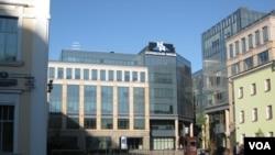 莫斯科的诺里尔斯克镍业集团总部。(美国之音白桦拍摄)