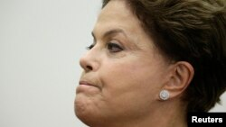 Brazil's President Dilma Rousseff attends a graduation ceremony of new diplomats at Itamaraty Palace in Brasilia, April 30, 2014.