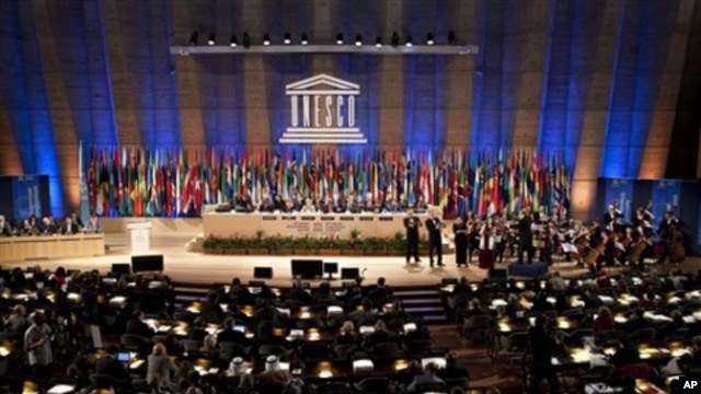 UNESCO's 36th General Conference, in Paris, Tuesday Oct. 25, 2011.