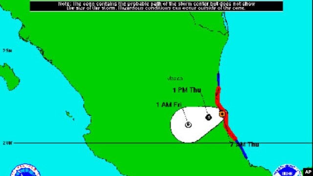 5-Day Forecast Cone for Tropical Storm Arlene, June 30, 2011