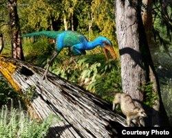 The bird-like Troodon lived in North America 77 million years ago. Illustration by Julius Csotony, University of Calgary