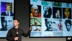 Facebook CEO Mark Zuckerberg speaks at Facebook headquarters in Menlo Park, Calififornia, March 7, 2013.