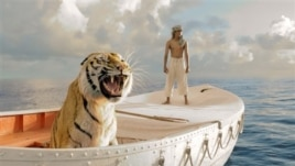 "This film image released by 20th Century Fox shows Suraj Sharma in a scene from ""Life of Pi"""