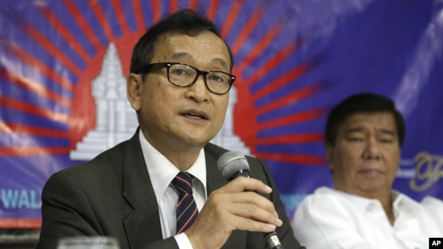 Sam Rainsy faces 12 year in prison on the charges if he returns to Cambodia.