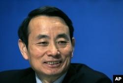 时任中石油负责人的蒋洁敏2008年3月19日在香港出席有关公司业绩的记者会。他的中央委员位置在四中全会上将由别人递补。