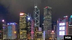 香港9月10日再次被加拿大菲沙研究所評為世界最自由經濟體,不過報告關注中國對香港的干預,嚴重削弱香港法治。(美國之音湯惠芸)