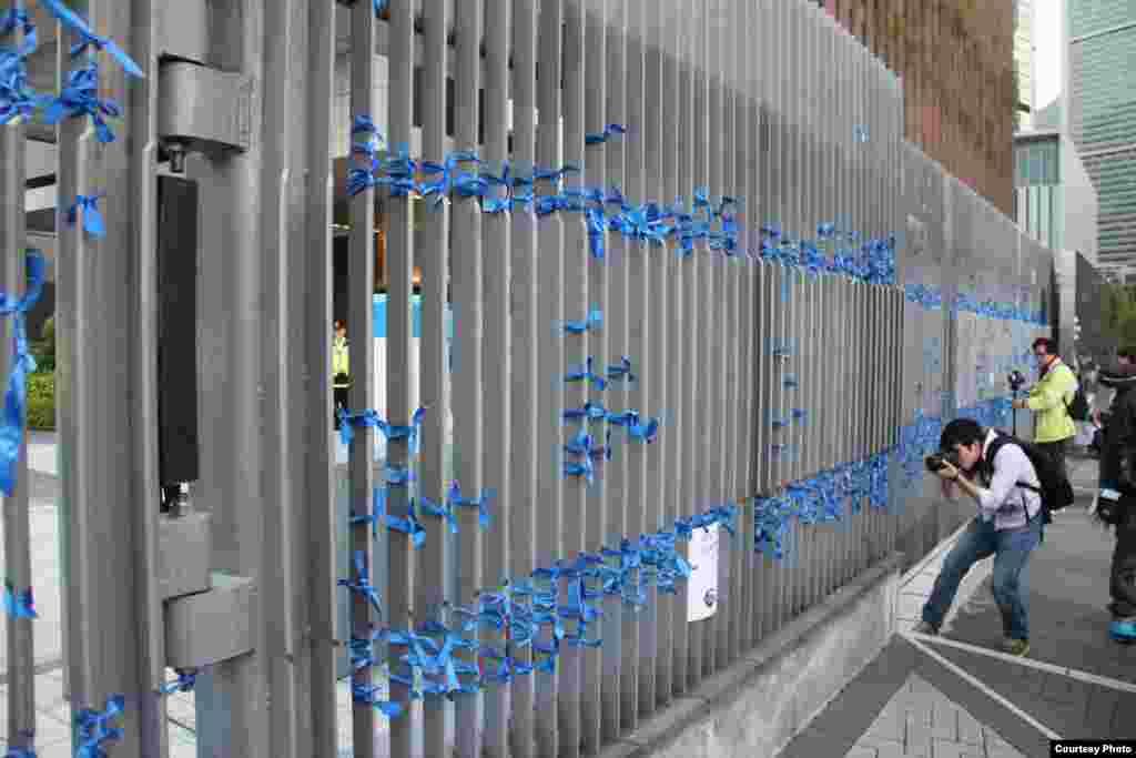 """香港記協星期日下午發起""""企硬反滅聲,撐言論自由""""的遊行1 (香港記者協會臉書圖片)"""