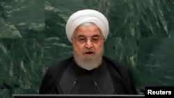 Tổng thống Iran, Hassan Rouhani, phát biểu tại Đại hội đồng Liên hiệp quốc ở New York, Mỹ, ngày 25/9/2019.