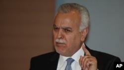 Phó Tổng thống Iraq đang tại đào Tariq al-Hashemi phát biểu trong một cuộc họp báo tại Ankara, Thổ Nhĩ Kỳ, ngày 10/9/2012