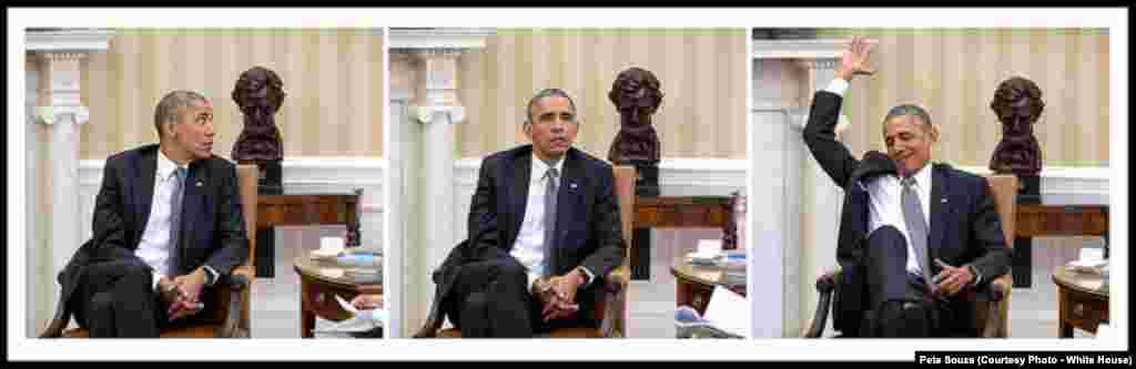 Le jour où le président a appris la validation du Affordable Care Act à la Maison Blanche , le 2 septembre 2015.