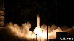 Phóng thử tên lửa siêu thanh từ Kauai, Hawaii ngày 19/3/2020, được thiết kế để chống vũ khí siêu thanh của các nước thù nghịch.