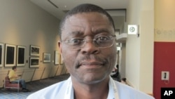 Claudes Kamenza, en charge du VIH pour l'Afrique Centrale et l'Afrique de l'Ouest à l'UNICEF (24 juillet 2012)