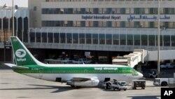 Foto de archivo del aeropuerto de Bagdad donde varias aerolíneas han suspendido sus vuelos luego del tiroteo de un avión de pasajeros.