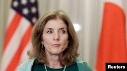 Caroline Kennedy a été menacée dans des appels téléphoniques à l'ambassade des Etats-Unis à Tokyo (Reuters)