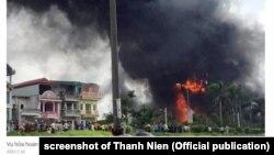 Cháy kho hóa chất ở Long Biên, Hà Nội vào sáng 30/6/2020