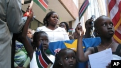 South Sudanese nationals of all ages came to Washington to celebrate their new country.