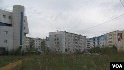 普京重視遠東發展。當地主要城市雅庫特市中心。