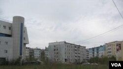 普京重视远东发展。当地主要城市雅库特市中心。
