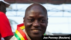 José Mário Vaz, em campanha em Bissau. Vaz ganhou as eleições presidenciais em 2014.