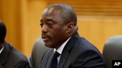 FILE - Democratic Republic of Congo President Joseph Kabila, Sept. 4, 2015.