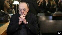 El juicio del cardenal francés Philippe Barbarin inició en el tribunal de Lyon, en el centro de Francia, el 7 de enero de 2019 .