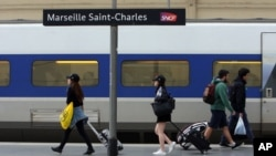 Ku gitura ca gariyamoshi i Saint-Charles, mugisagara ca Marseille, m'Ubumanuko bw'Ubufaransa