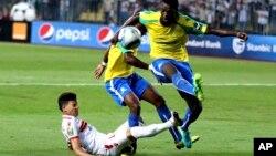 Les Al Zamalek contre Mamelodi Sundowns, lors d'un match de la Ligue, en Egypte, le 23 octobre 2016.