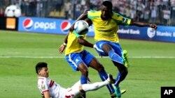 Exploit du club sud-africain Mamelodi Sundowns contre le Zamalek de l'Egypte au stade Borg El Arab à Alexandrie, 30 octobre 2016.