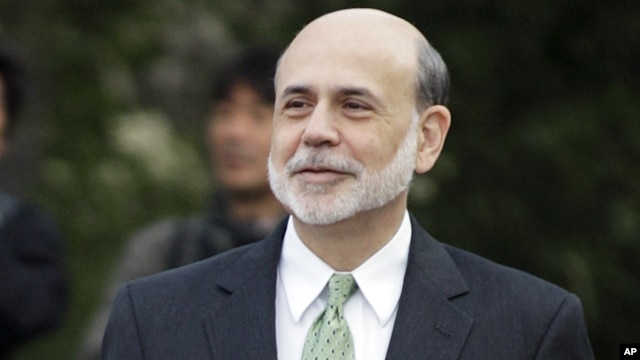 Federal Reserve Chairman Ben Bernanke walks outside of the Jackson Hole Economic Symposium,  Aug. 31, 2012, at Grand Teton National Park near Jackson Hole, Wyo.