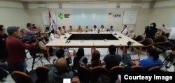 RS Hasan Sadikin Bandung menggelar konferensi pers terkait virus corona di Bandung, Senin (27/1/2020) pagi. (Courtesy: RSHS)