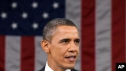 국정연설을 하는 오바마 대통령