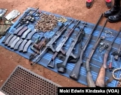 Ammunition and weapons were seized from armed men who held Cameroonians hostage, June 6, 2018.