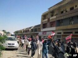 Manifestação da UNITA em Benguela, a 19 de Maio