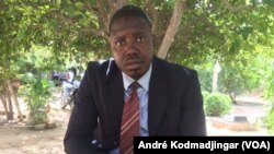 Moussa Mahamat Mahadi à N'Djamena, le 3 juillet 2019. (VOA/André Kodmadjingar)
