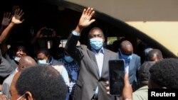 Uwutavuga rumwe n'ubutegetsi, Hakainde Hichilema, aramutsa abanyagihugu ahejeje gutora i Lusaka, Zambia, Kw'itariki ya 12/08/2021